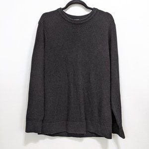 H&M Mens Waffle Sweater Black Size: Med